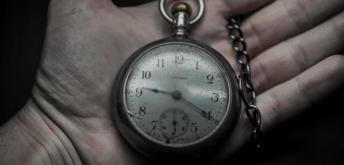 An image of an historic timekeeper (pocket watch).